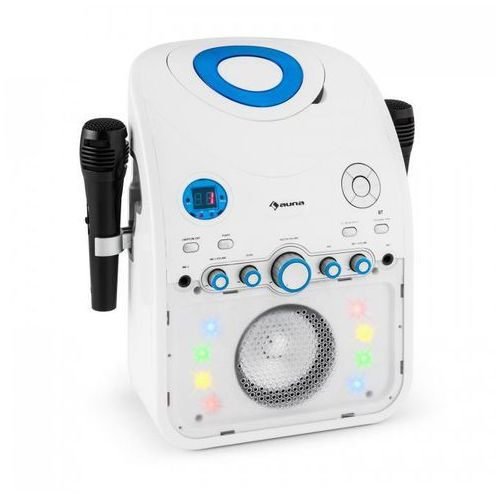 StarMaker Zestaw karaoke Odtwarzacz CD Bluetooth AUX Efekt świetlny LED 2 x mikrofon