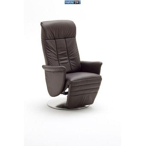 ART RELAX - VIP-A - FOTEL TV- z podnóżkiem-skóra czarny brąz cappuccino, marki niemiecke meble do zakupu w meble24sklep