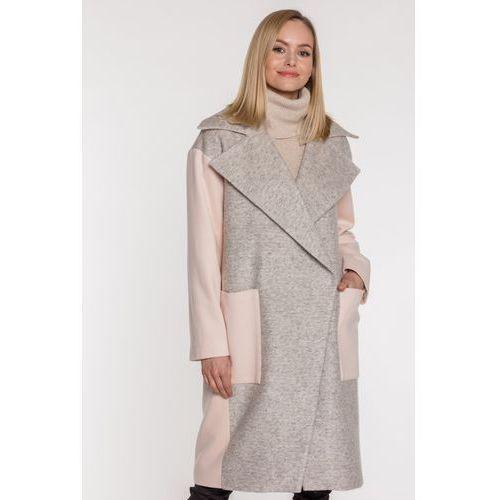 Wełniany płaszcz z kołnierzem - Firemove