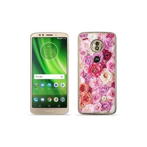 Motorola Moto G6 Play - etui na telefon Foto Case - jasne róże, kolor różowy