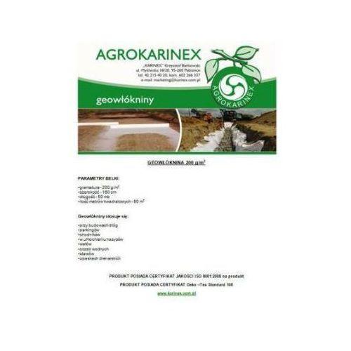 Geowłóknina 200 g/m2, biała 1,6 x 50 mb. Rolka. - produkt z kategorii- folie i agrowłókniny