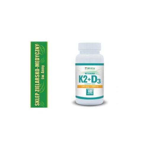WITAMINA K2+D3 W TABLETKACH 60 SZTUK Kuracja na 2 miesiące (Witaminy i minerały)