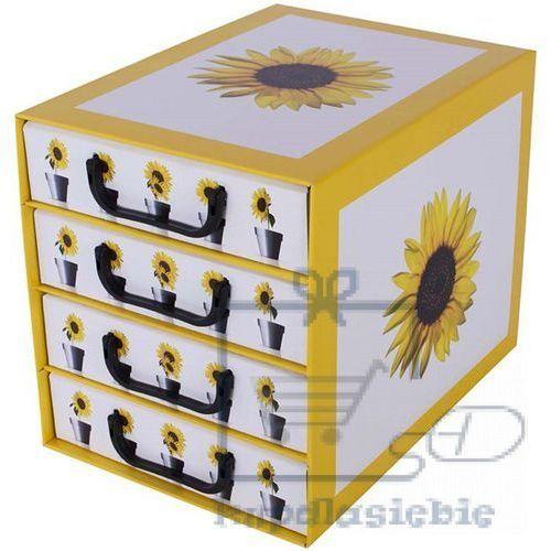 Miss space Pudełko kartonowe 4 szuflady pionowe doniczki-słonecznik (8033695872074)