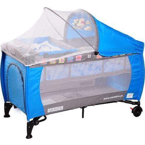 Łóżeczko turystyczne CARETERO Grande niebieski - produkt dostępny w Media Expert