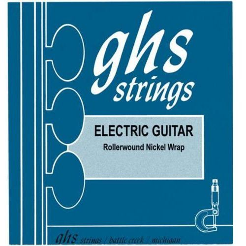 GHS NICKEL ROCKERS struny do gitary elektrycznej, Medium Light,.012-.054, Rollerwound, wound G-String