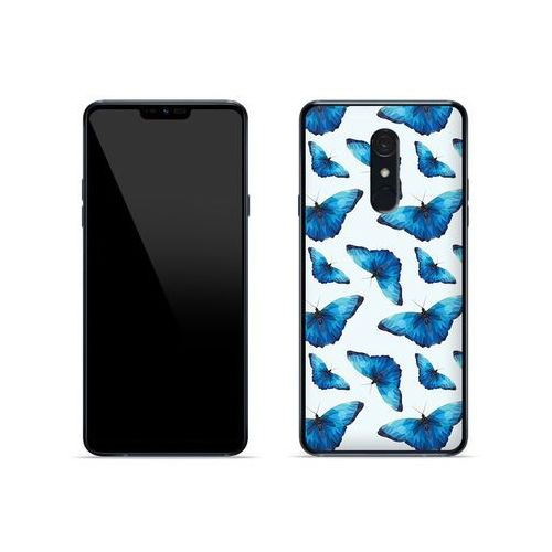LG G7 Fit - etui na telefon Fantastic Case - niebieskie motyle