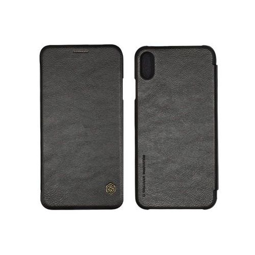 Apple iPhone XR - etui na telefon Nillkin Qin - czarny, kolor czarny