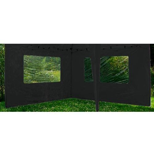 Ścianka do pawilonu ogrodowego 2 szt. 3x3m - czarny