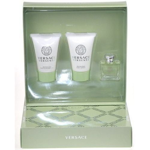 Versace versense w zestaw perfum edt 5ml + 25ml żel pod prysznic + 25ml balsam