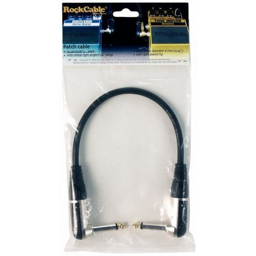 RockCable Patch Cable - angled TS (6.3 mm / 1/4), diameter 6 mm / 2/8 - 30 cm / 17 13/16
