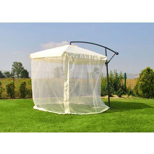 Parasol ogrodowy z moskitierą - beżowy, Malatec z Mall.pl