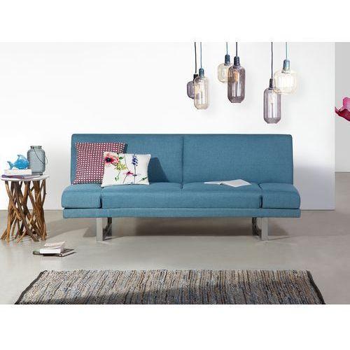 Sofa z funkcją spania morska - kanapa rozkładana - wersalka - YORK (7081456930328)
