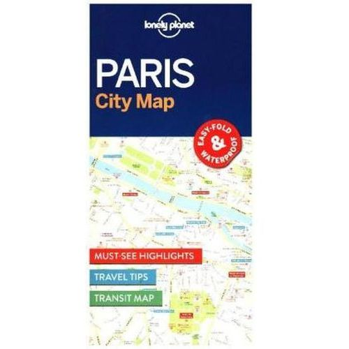 Lonely Planet Paris City Map, Lonely Planet