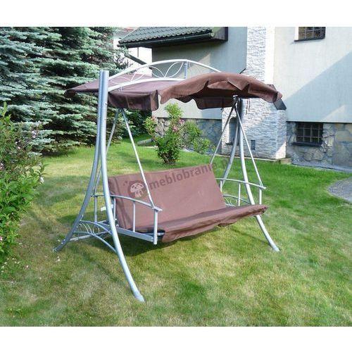 Rozkładana huśtawka ogrodowa brązowa GGMI - produkt dostępny w Meblobranie.pl