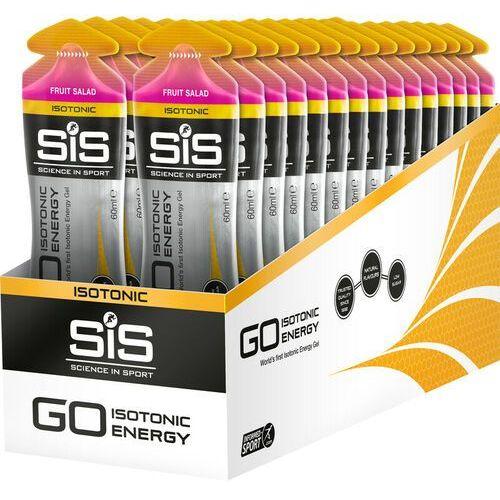 go isotonic energy gel box 30x60ml, fruit salad 2020 żele i smoothie marki Sis
