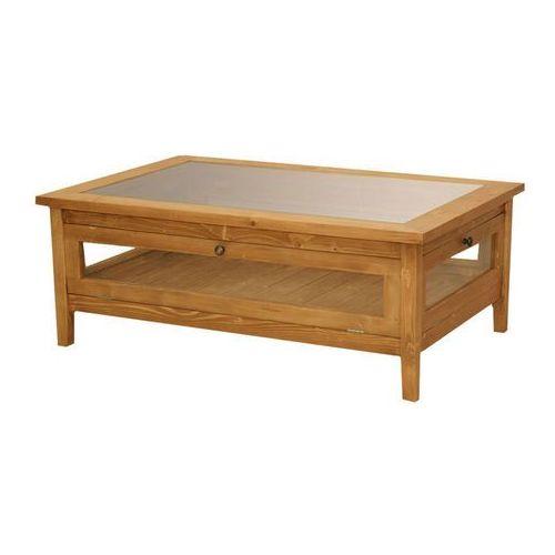 Ława ze szklanym blatem Charlotte 183 (stolik i ława do salonu)