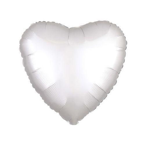 Balon foliowy Serce białe - 43 cm - 1 szt. (0026635385909)