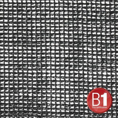 Adam hall 0158 x 45 b - gaza typu 203, 4 x 5 m, z oczkami, czarna