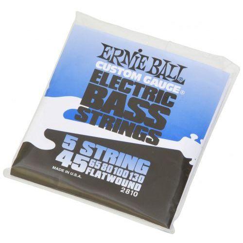 Ernie ball 2810 flatwound bass struny do gitary basowej 5 45-130