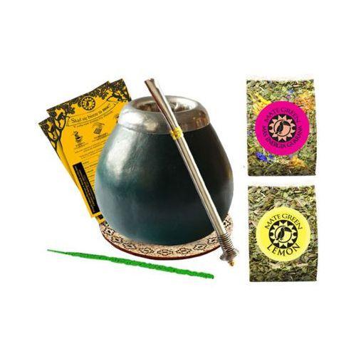 Zestaw startowy 2x50g + bombilla + matero + podkładka + czyścik marki Yerba mate green