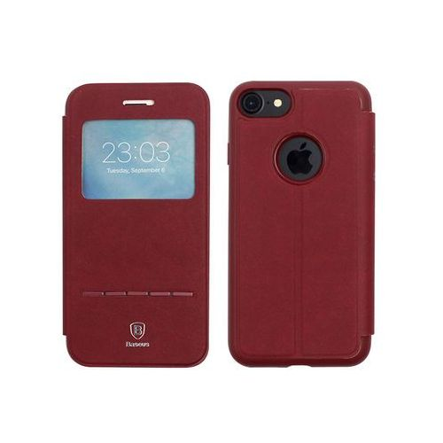 Apple iPhone 7 - etui na telefon Baseus Simple Series Leather Case - czerwone, ETAP403BASLRED000