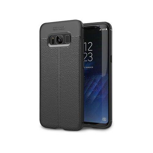 Etui pancerne Alogy leather case TPU - Galaxy S8 czarne + Szkło, kolor czarny