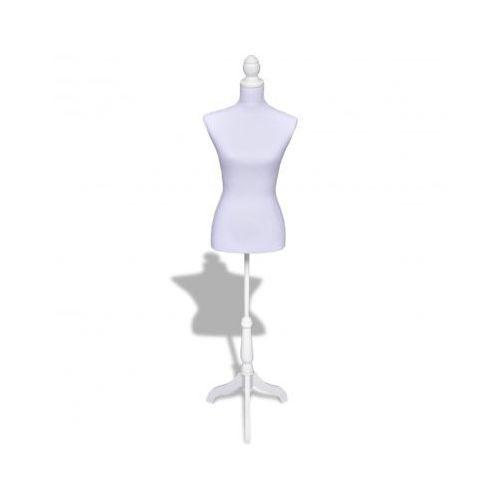 Manekin kobiecy, korpus, biały. - produkt dostępny w VidaXL