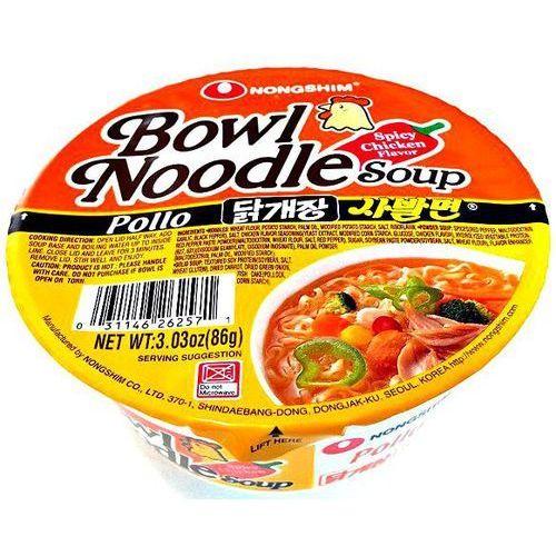Zupa instant bowl noodle o smaku ostrego kurczaka 86g - marki Nongshim