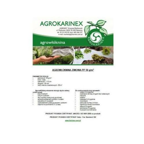 Agrowółknina zimowa PP 50 g/m2 biała 1,1 x 50 mb. Rolka o wadze 2,85 kg. - produkt z kategorii- folie i agrowłókniny