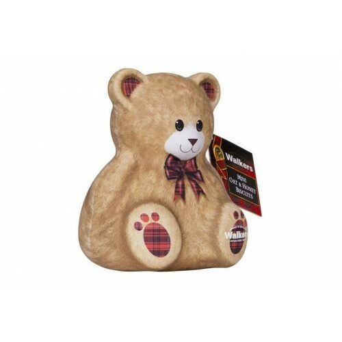 Miś Walkers Teddy Bear Mini Oat & Honey Biscuits puszka 100g, 5A85-7613F