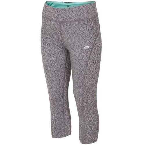Damskie spodnie leginsy sportowe spdf001 jasny szary l marki 4f