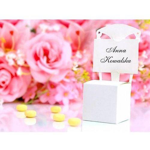 Ap Pudełeczka dla gości krzesełka białe - 10 szt. (5901157437143)