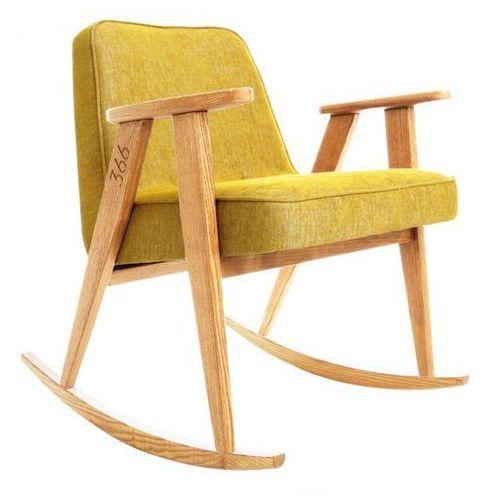 Fotel bujany 366 Soft Loft Srebrny Ciemny dąb, marki 366 Concept do zakupu w Designersko.pl