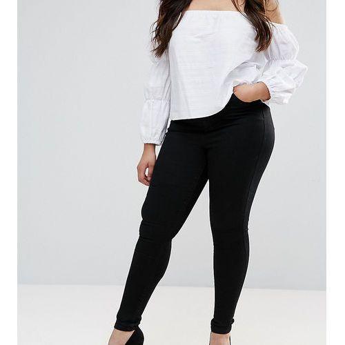 ASOS CURVE 'SCULPT ME' Premium Jeans In Clean Black - Black, kolor czarny