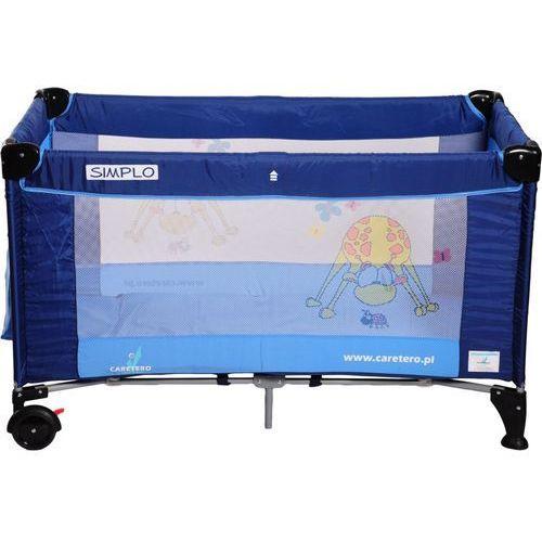 Łóżeczko turystyczne CARETERO Simplo niebieski - produkt z kategorii- łóżeczka turystyczne