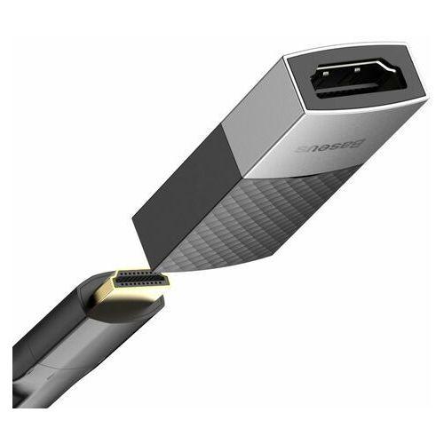 Baseus adapter łącznik złączka HDMI 4K@60 Hz czarny (CAFDQ-0G)