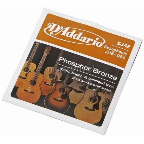 D′Addario EJ42 struny do gitary rezofonicznej Phosphor Bronze 16-56