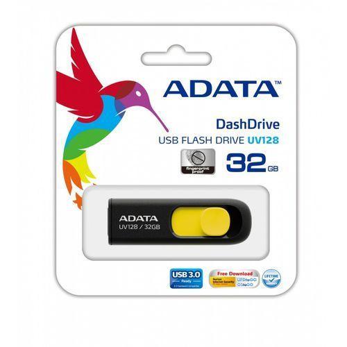 Adata DashDrive UV128 32GB USB3.0 czarno - żółty 40MB / 25MB z kategorii PenDrive