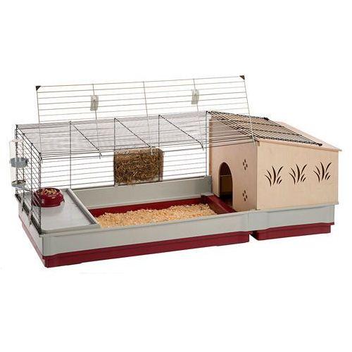 krolik 140 plus składana klatka dla świnki, królika z wyposażeniem marki Ferplast