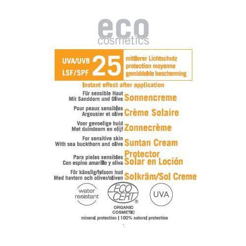 Eco cosmetics Krem na słońce lsf/spf 25 z bio-rokitnikiem i bio-oliwą z oliwek 3 ml (4033981741095)