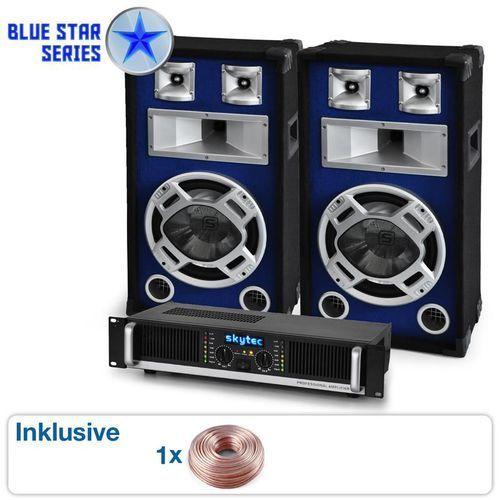 """Elektronik-star Zestaw pa """"beatbass ii"""" z serii blue star1200 watt"""