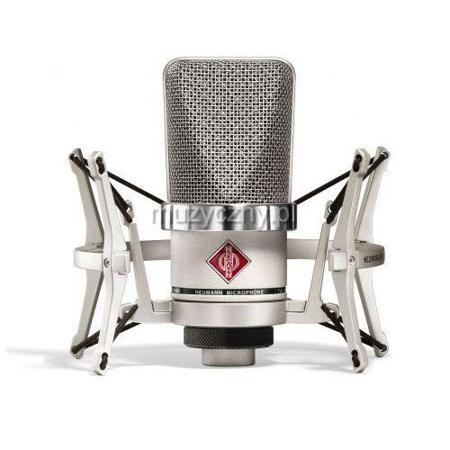 Neumann TLM 102 Studio Set mikrofon wielkomembranowy + uchwyt elastyczny EA4, kolor niklowy