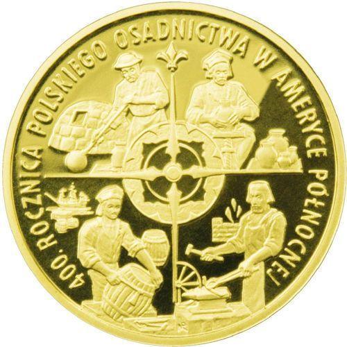 100 zł - 400. rocznica polskiego osadnictwa w Ameryce Północnej - 2008