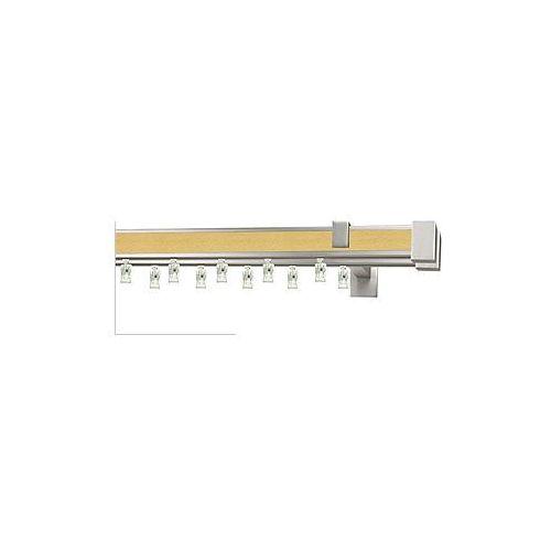 Karnisze aluminiowe AVENO / Karnisz AVENO Prestige LORETO podwójny chrom mat-buk - oferta [d5d3e30bb1923246]