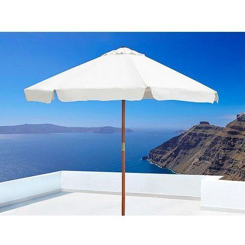 Beliani Parasol ogrodowy - kolor beżowy - drewniany - toscana, kategoria: parasole ogrodowe