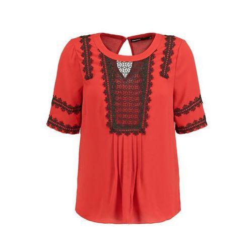 Karen Millen Tshirt z nadrukiem red/multi, materiał poliester, czerwony