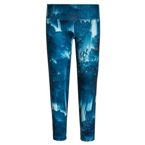 adidas Performance Legginsy tech steel/unity blue/ice mint/matte silver - produkt z kategorii- Legginsy dla dzieci