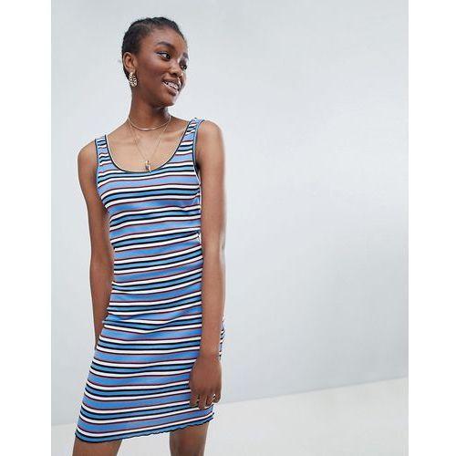stripe bodycon dress - blue marki New look