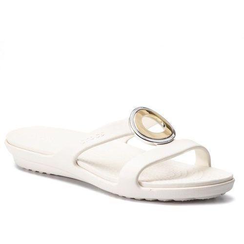 Klapki - sanrah metalblock sandal w 205592 multi metal/oyster, Crocs, 36.5-41.5