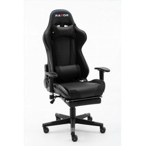Razor Fotel gamingowy pro gamer™ black z podnóżkiem